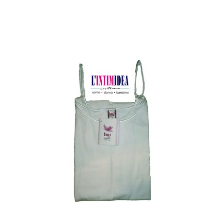 Brio Top Donna Bordo Raso in costina 1/1 Pettinata Donna