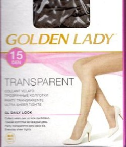 Golden Llady transparent 15 collant velato