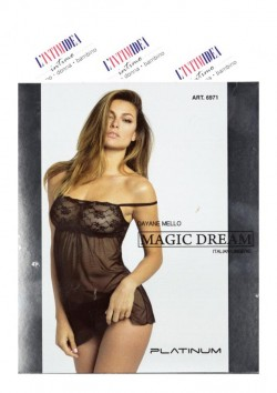 Badydoll in tulle ricamato MAGIC DREAM 6971