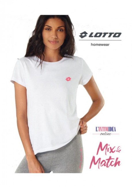 LOTTO T-SHIRT DONNA M/M G/R IN 100% COTONE LA1011
